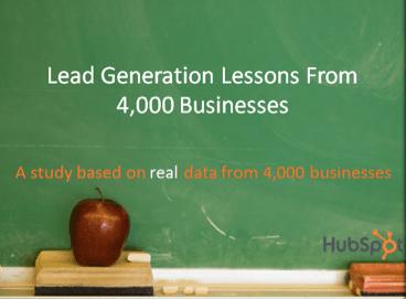 'Harde' gegevens over lead generation van Hubspot