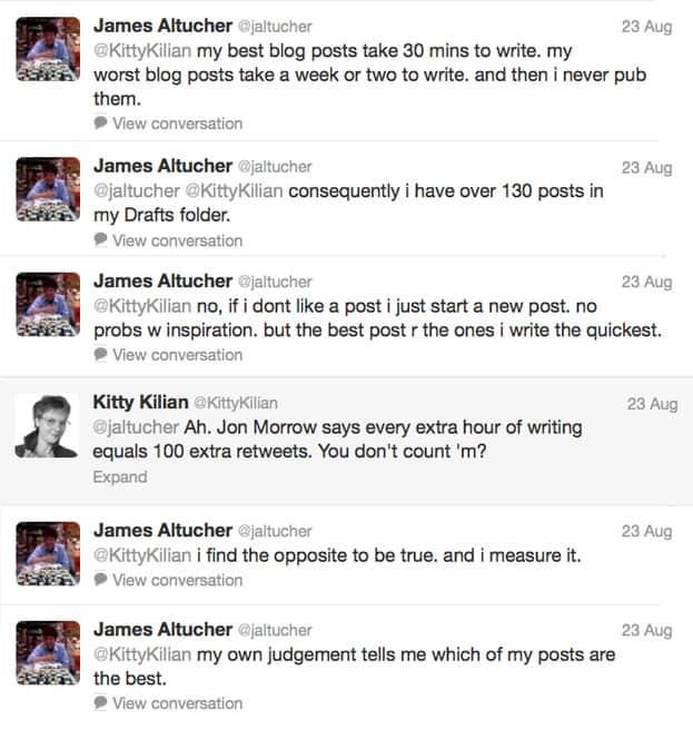 Hoe lang doe je over een blog post? James Altucher