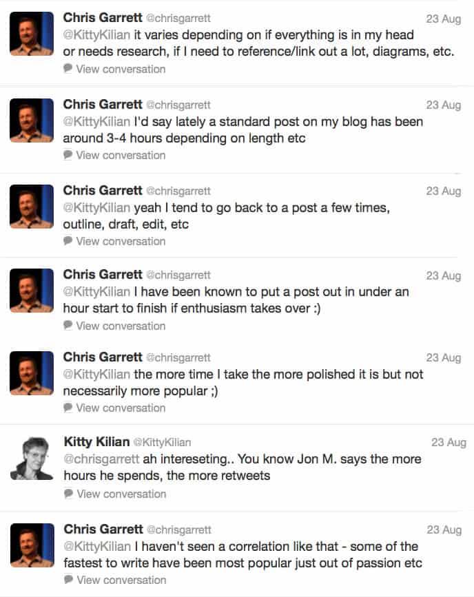 Hoe lang doe je over een blog post? Chris Garrett