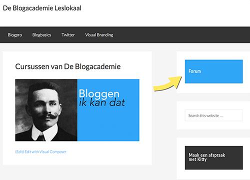 membersite van De Blogacademie
