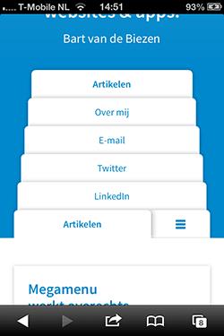 bzzen tabbladen op homepage