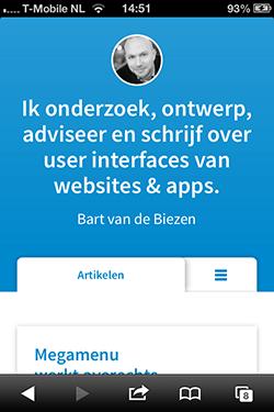 bzzen.com mobiele homepage