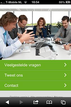 KPN homepage mobiel voor bedrijven