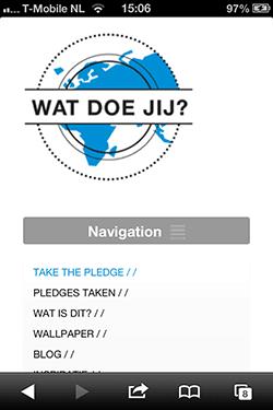 watdoejij.org mobiele menukeuze