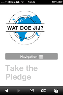 watdoejij.org mobiele homepage