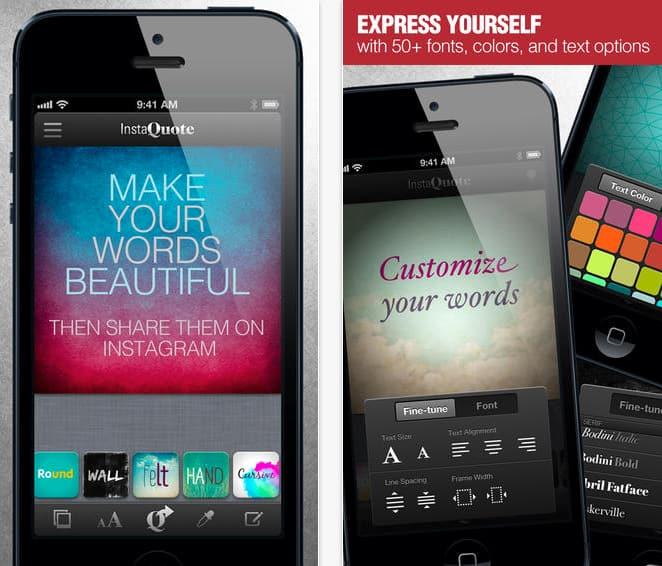 Instaquote voor Iphone en Ipad