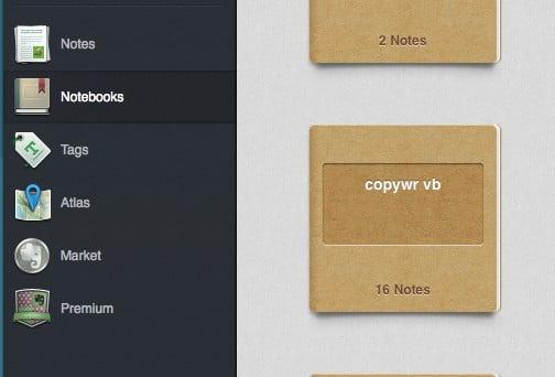 Evernote: de organisatie in Notebooks en Notes, met tags om snel te zoeken