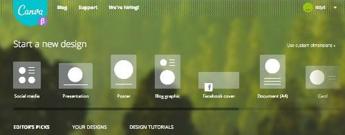 canva.com voor instant design trucs
