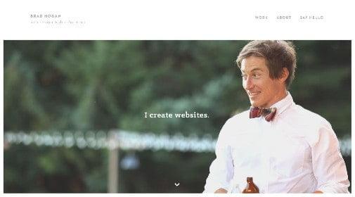 'I create websites'