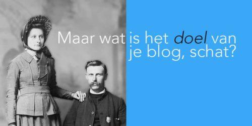wat is het doel van een blog?