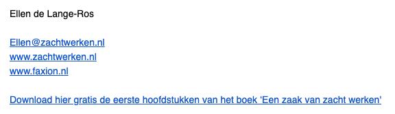 emailhandtekening met reclame