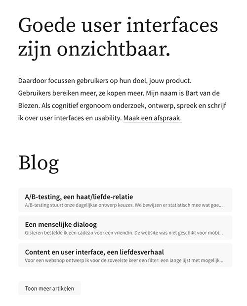 Usability-onderzoeker Bart van de Biezen...