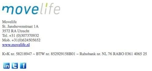 ...en de wat chaotische emailhandtekening