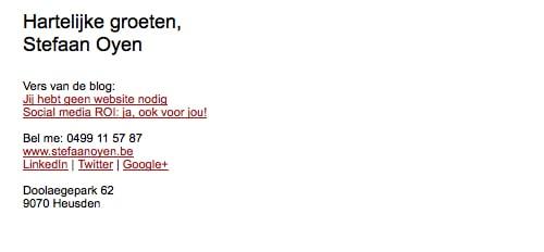 emailhandtekening van websitebouwer Stefan Oyen