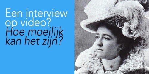 hoe maak je een video-interview?