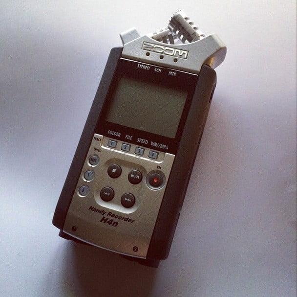audio apparatuur voor een video interview