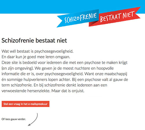 schizofrenie bestaat niet