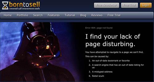 humoristische 404 pagina