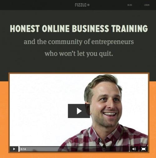 Schrijf wat je doet op je homepage