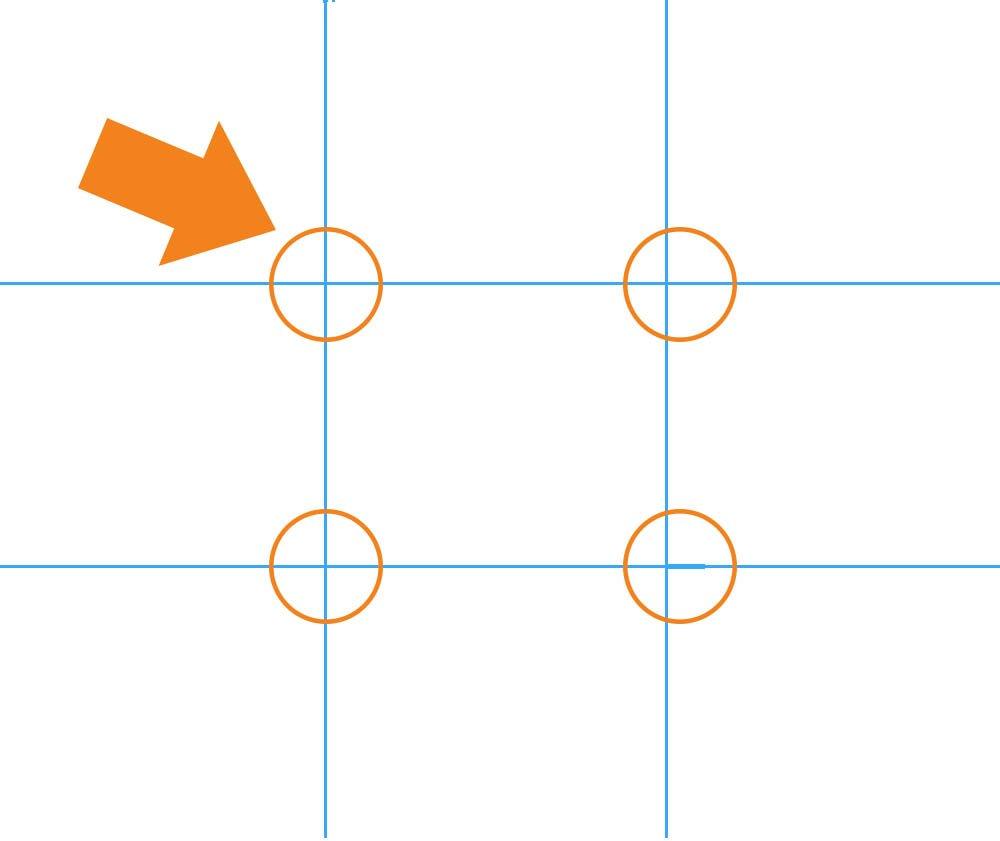 rule of thirds: verdeel een vlak in 9 delen en zet het onderwerp een tikje uit het midden, in de richting van één van de kruispunten