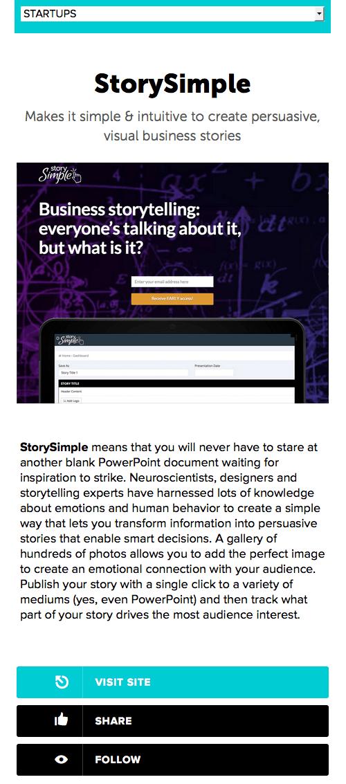 alweer een storytelling website