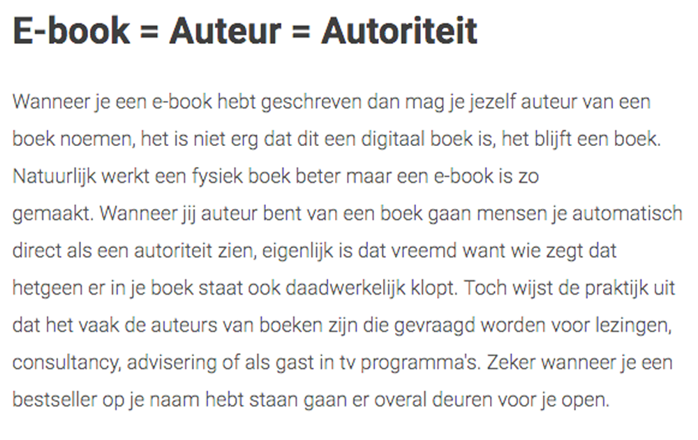 boek is autoriteit