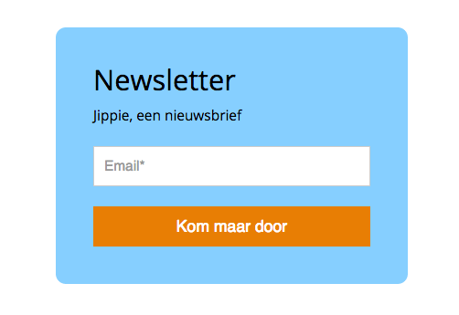 Snel een inschrijfbox maken in MailerLite