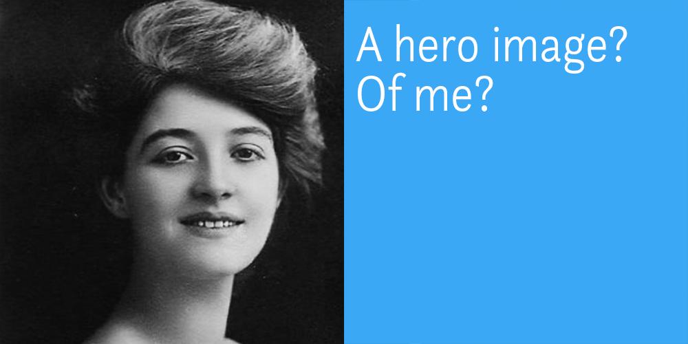 wordpress theme voor schrijvers met hero image