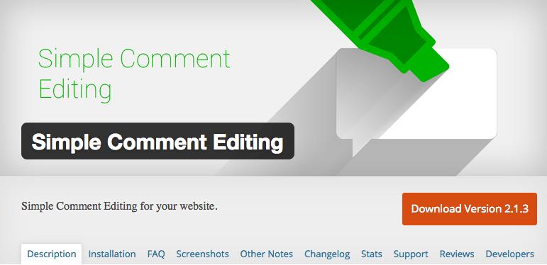 een plugin om je comments achteraf te editen