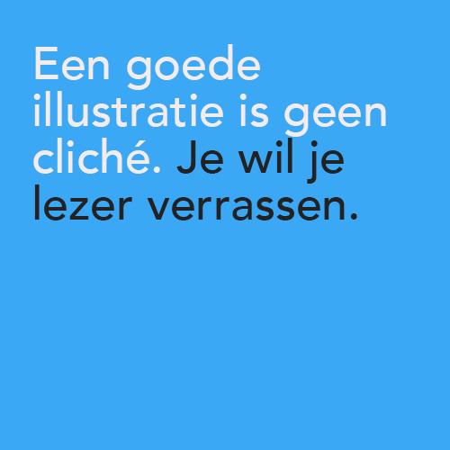 plaatje met tekst: een goede illustratie is geen cliché