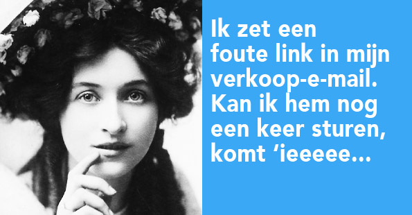 foute link in verkoopmail