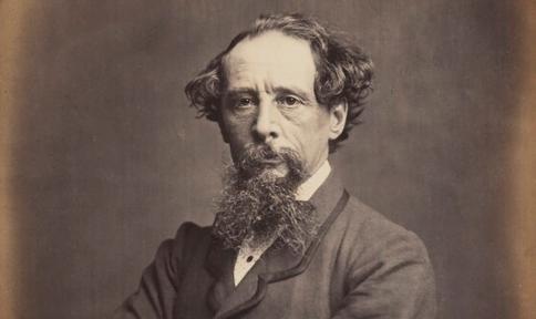copyrightvrij plaatje van Charles Dickens