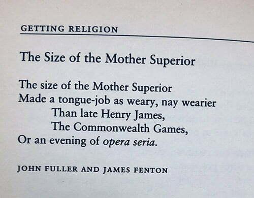 poem mother superior