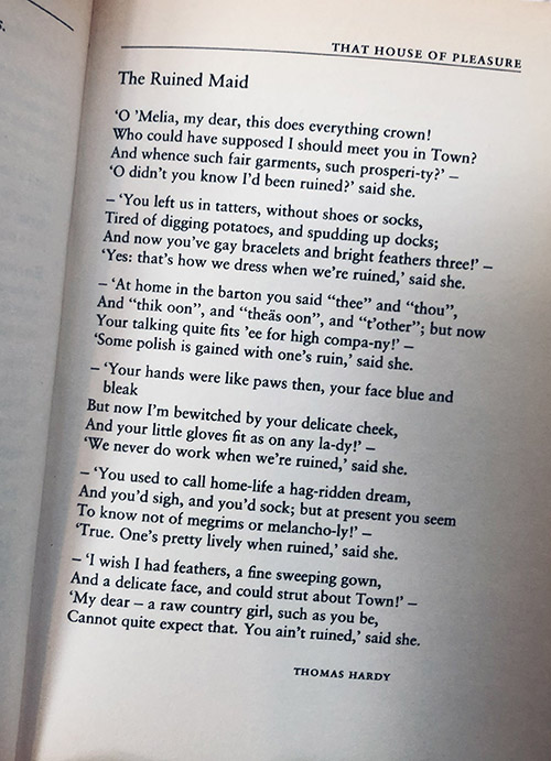 gedicht van Thomas Hardy