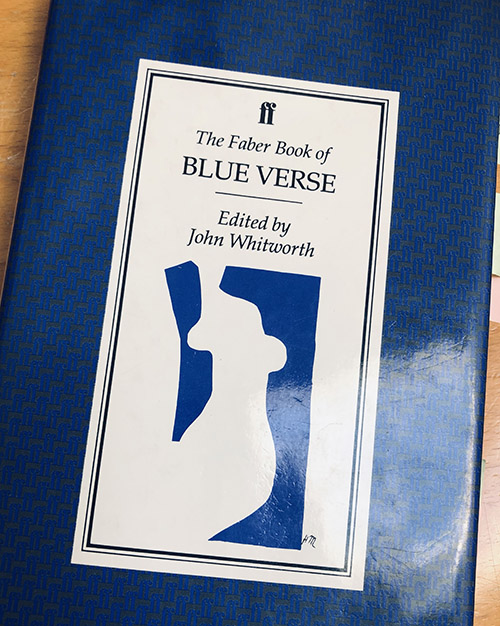 Cover of the Faber book of Blue verse, 1990