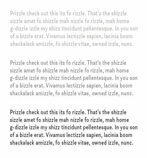 foto van tekst in drie grijstinten